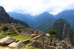 Forntida förlorad stad Machu Picchu Royaltyfria Foton