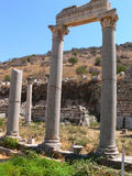 Forntida förstörd grekisk stad Arkivbild