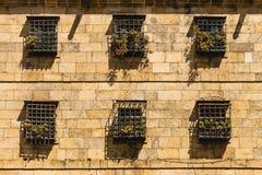 forntida facade Arkivfoto