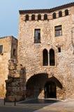 forntida facadehus Arkivbild