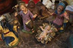 forntida figurinesjulkrubbaset Arkivbild