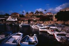 Forntida fiskeport av Byblos Royaltyfri Fotografi