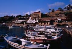 Forntida fiskeport av Byblos Royaltyfria Bilder