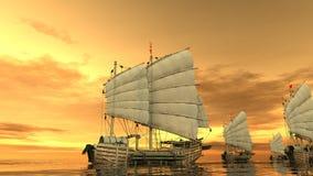 forntida flotta Arkivfoto