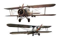 Forntida flygplan royaltyfri bild