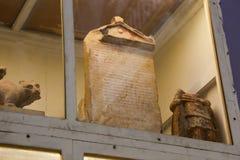 Forntida forntider av den Greco- romaren på det egyptiska museet Arkivfoto