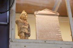 Forntida forntider av den Greco- romaren på det egyptiska museet Arkivbild