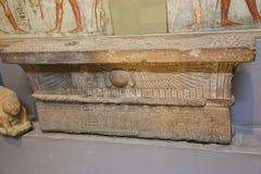 Forntida forntider av den Greco- romaren på det egyptiska museet Royaltyfria Foton