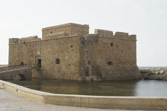 Forntida Fort, Pafos, Cypern, Europa Arkivfoto