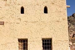 Forntida fort som är berömt för konstruktion gammal arkitektur som används för inre och yttersidor texturerade tapeter och sandig Arkivbilder