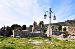 Forntida fortess i stången, Montenegro Royaltyfria Bilder