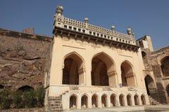 forntida fortgolcondahyderabad moské Arkivfoto