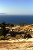Forntida fördärvar av Kamiros - Rhodes Arkivfoton