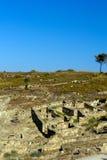 Forntida fördärvar av Kamiros - Rhodes Arkivbild