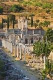 Forntida fördärvar i Ephesus Turkiet Arkivfoto
