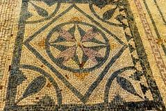 Forntida fördärvar i romersk villa i Risan, Montenegro Arkivbild