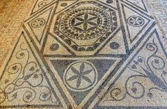 Forntida fördärvar i romersk villa i Risan, Montenegro Arkivfoto
