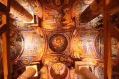 Forntida fresco i Cappadocia royaltyfria foton
