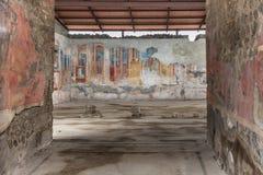 Forntida fresco på Pompeii royaltyfri bild