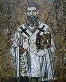 Forntida frescoe i helgonet Sophia Cathedral, Kiev, Ukraina Arkivfoto