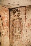 Forntida freskomålning i kristen kyrka i Cappadocia, Turkiet arkivbilder