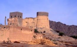 Forntida Fujairah fort Arkivfoto