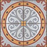 Forntida fyrkantig stenläggningtegelplatta Fotografering för Bildbyråer