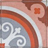 Forntida fyrkantig stenläggningtegelplatta Royaltyfri Foto