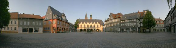 forntida fyrkantig town Royaltyfri Bild