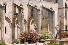 Forntida gammal kristen tempelSt som är krigs- i Avignon arkivbilder