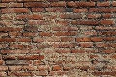 Forntida gammal textur för tegelstenvägg arkivbilder