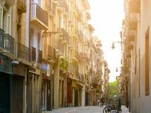 Forntida gata av den Pamplona staden Royaltyfria Bilder