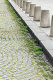 Forntida gator av Paris Arkivbild