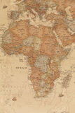 Forntida geografisk översikt av Afrika arkivfoto