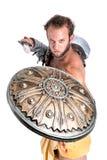 Forntida gladiator/isolerad krigare Royaltyfri Foto