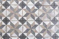 Forntida golvtegelplattor arkivfoton