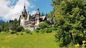 Forntida gotisk slott Arkivbild