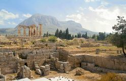 forntida gräva greece Arkivbild
