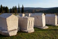 Forntida gravvalv av den medeltida nekropolen Radimlja, Bosnien och Hercegovina Royaltyfri Fotografi