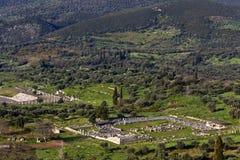 forntida greece messene royaltyfri foto