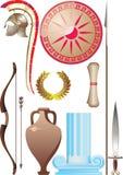forntida greece set Arkivfoton