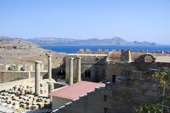 forntida greece tempel Royaltyfria Bilder