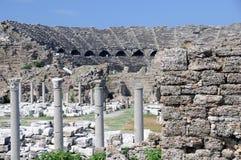 forntida grek för amfiteater Arkivfoto