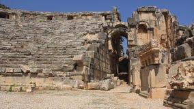 Forntida Grek-romare amfiteater. Myra gammalt namn - Demre, Turkiet