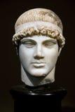 forntida grekisk head staty royaltyfri fotografi