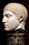 forntida grekisk head staty Arkivbild