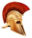 forntida grekisk hjälmkrigare Arkivfoto