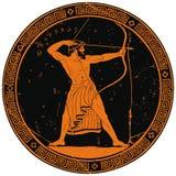 forntida grekisk krigare royaltyfri illustrationer