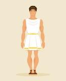 forntida grekisk man också vektor för coreldrawillustration Royaltyfri Fotografi