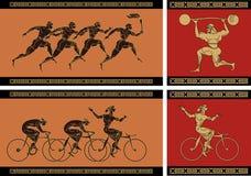 forntida grekisk sport vektor illustrationer
